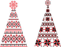 Ukrainian Christmas trees Stock Photo