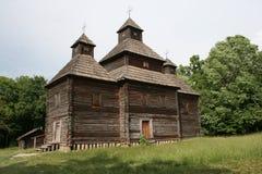Ukrainian church. Gate. Church in the Ukrainian style. Ukrainian church Royalty Free Stock Images