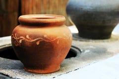 Ukrainian clay pot Royalty Free Stock Image