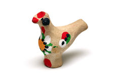Ukrainian Clay Souvenir On A White Background Royalty Free Stock Photography