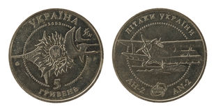 Ukrainian coins 5 grivna (2003 year) Stock Photography