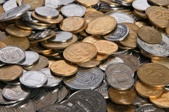 Ukrainian coins. Bacground with Ukrainian coins for finance or banc stock photo