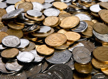 Ukrainian coins. Bacground with Ukrainian coins for finance or banc Stock Photography