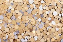 Ukrainian coins background Royalty Free Stock Images