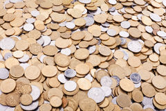 Ukrainian coins background Stock Photo