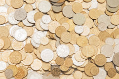 Ukrainian coins background Stock Photography