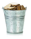 Ukrainian coins in bucket Royalty Free Stock Photo
