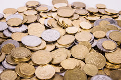 Ukrainian coins Royalty Free Stock Photography