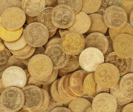Ukrainian coins set Royalty Free Stock Photos