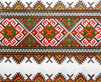 Ukrainian color knitted textile 1. Traditional ukrainian color knitted textile Royalty Free Stock Images