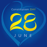 Ukrainian Constitution day vector greetings. Stock Photo