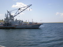 Ukrainian corvette U207. In Lake Donuzlav  Crimea Stock Photo