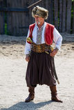 Ukrainian Cossack in national dress Royalty Free Stock Photos