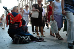 Ukrainian cossak playing on his bandura Royalty Free Stock Image