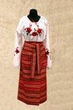 ukrainian costume фольклорный Стоковая Фотография RF