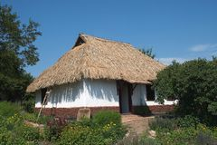 Ukrainian country house. Traditional house in ukrainian country Stock Photography