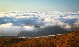 Ukrainian Crimean Mountains. Hiking in Ukrainian Crimean Mountains stock image