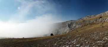 Ukrainian Crimean Mountains. Hiking in Ukrainian Crimean Mountains stock photo