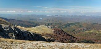 Ukrainian Crimean Mountains. Hiking in Ukrainian Crimean Mountains royalty free stock images