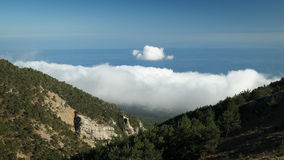 Ukrainian Crimean Mountains. Hiking in Ukrainian Crimean Mountains stock photography