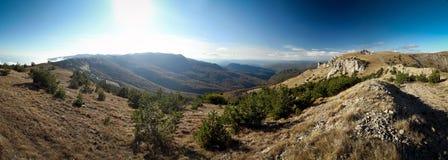 Ukrainian Crimean Mountains. Hiking in Ukrainian Crimean Mountains royalty free stock photography