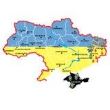 Ukrainian crisis, russian invasion Stock Images
