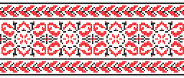 Ukrainian cross-stitch ornament - Vector Stock Photography