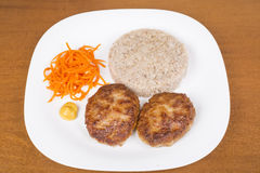 Ukrainian cutlets Royalty Free Stock Images