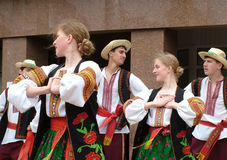 The Ukrainian dance Royalty Free Stock Photography