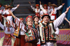 The Ukrainian dance stock photo