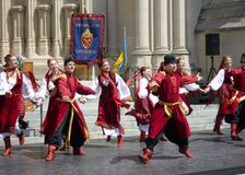 Ukrainian Dance at the Cathedral Royalty Free Stock Photography
