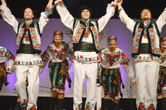 Ukrainian Dancers. A Ukrainian dancers at the Holday Folk Fair International at State Fair Park in Milwaukee, WI stock photography