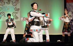 Ukrainian Dancers. At the Holday Folk Fair International at State Fair Park in Milwaukee, WI Stock Photo