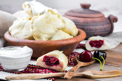 Ukrainian dumplings Royalty Free Stock Image