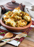 Ukrainian dumplings Stock Image