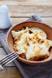 Ukrainian dumplings with potatoes royalty free stock image
