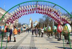 Ukrainian Easter Festival in Kiev, Ukraine. Royalty Free Stock Image