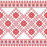 Ukrainian, Eastern European folk art embroidery pattern or print Royalty Free Stock Photo