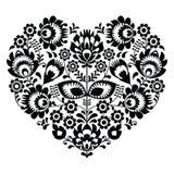 Ukrainian, Eastern European folk art embroidery pattern or print Stock Photo