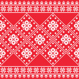 Ukrainian, Eastern European folk art embroidery pattern or print Stock Images