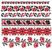 Ukrainian ebmroidery flower Royalty Free Stock Photography