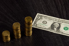 Ukrainian economic crisis: currency rate hryvnia to dollar Stock Images