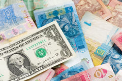 Ukrainian economic crisis: currency rate hryvnia to dollar Royalty Free Stock Images