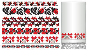 Ukrainian embroder pattern Stock Photos