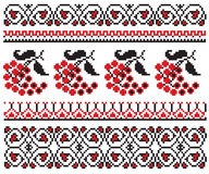Ukrainian embroider berry pattern Stock Photos