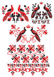 Ukrainian embroider birds Royalty Free Stock Photo
