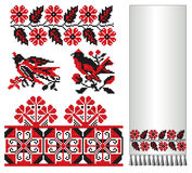 Ukrainian embroider cuckoo swallow Stock Photos