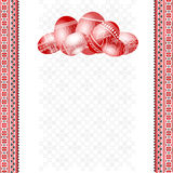 Ukrainian embroider easter egg background Stock Photography