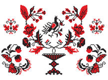 Ukrainian embroider elements Stock Photography
