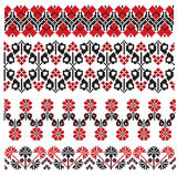Ukrainian embroider flower Stock Photo